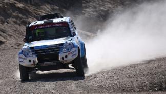 Prueba, Mitsubishi Montero Dakar, frontal