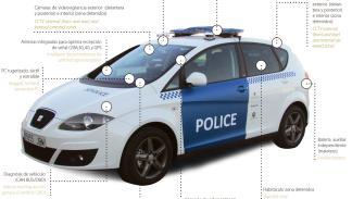 coche policia conectado ficosa