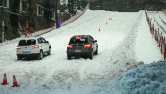 pista nieve xanadú neumáticos de invierno