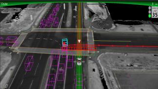 Así ve el coche autónomo de Google posible accidente
