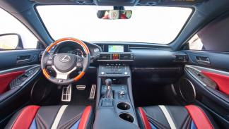 Lexus RC-F Los Angeles Clippers interior