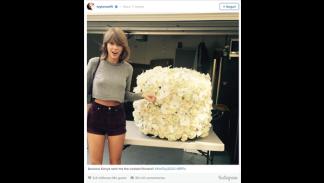 La segunda foto con más 'me gusta' de Instagram: El ramo de flores que Kanye Wes