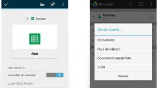 compartir google drive contactos