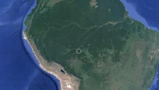 nave extraterrestre amazonas google maps bolivia