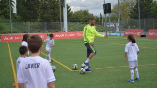 benzema real madrid audi junior cup