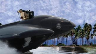 seaphantom barco helicoptero propulsores impresionante