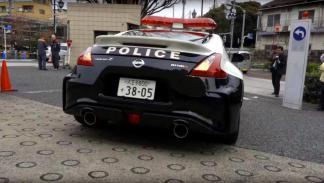 Nissan 370Z Nismo Policia Japón trasera
