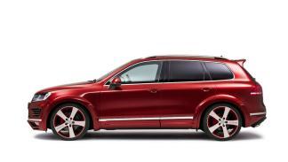 Volkswagen Touareg JE DESIGN lateral rojo suv