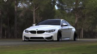 BMW M4 by Liberty Walk frontal