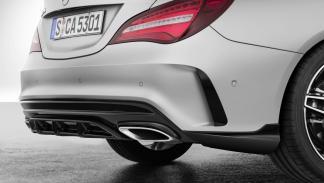Mercedes CLA con accesorios AMG difusor