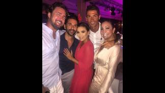 Cristiano Ronaldo, con Eva Longoria. Foto: Instagram.