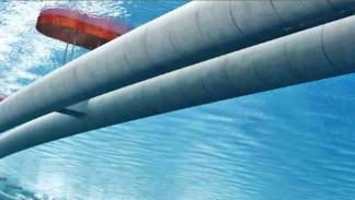 túneles flotantes bajo el mar a 30 metros