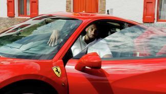 Kobe Bryant, en Ferrari