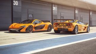 McLaren F1 GTR y McLaren P1 XP 05 trasera