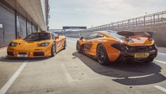 McLaren F1 GTR y McLaren P1 XP 05 zaga