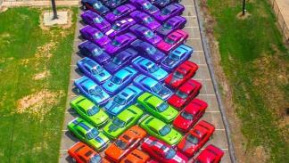 Arcoíris Dodge Challenger