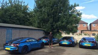 Los BMW i8 de los jugadores del Leicester
