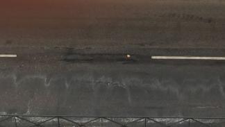 Lluvia borra marcas viales en Madrid 2