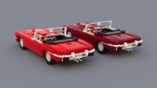 Jaguar E-Type de Lego trasera