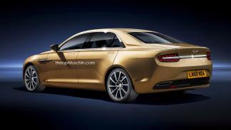 Aston Martin rival BMW Serie 3 trasera