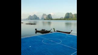 Campo 'flotante' de Paynee, en Tailandia.