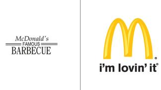 El antes y el después del logo de McDonald's.