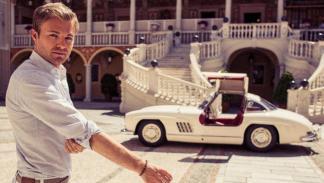 Nico Rosberg parece tener cierta predilección por los coches clásicos.
