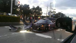 Pagani Zonda ZoZo accidente morro