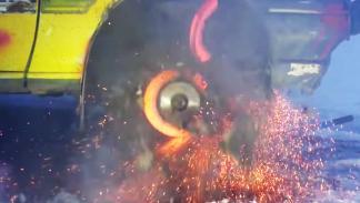 Galería: así explota un disco de freno