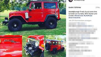 Donald Trump Junior, el hijo mayor, conduce un Toyota Land Cruiser de 1972.