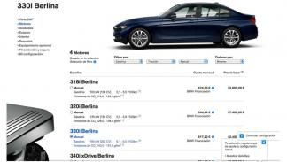 El configurador de BMW te dará a elegir entre su gama de motorizaciones.