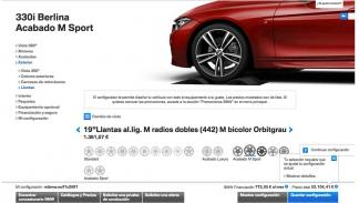 Podrás configurar las llantas, color... De tu BMW.