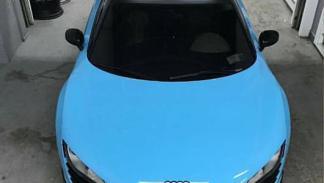 Audi R8 vinilado como un Bugatti Chiron