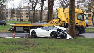 accidente Ferrari 458 Italia Ámsterdam lateral