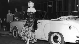 Marilyn y los cabrios de  lujo ya hacían buena pareja en 1951