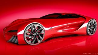 Alfa Romeo 6C Disco Volante tres cuartos delantera