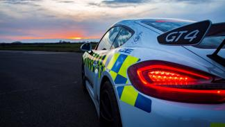 Porsche Cayman GT4 de la Policía de Norfolk
