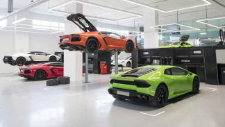 Concesionario Lamborghini Dubai taller 2