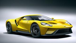 El Ford GT amarillo