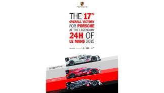 Cartel histórico de Porsche en Le Mans