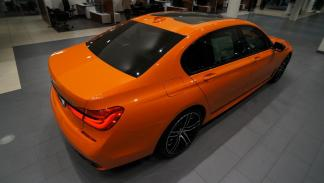 BMW 750i Fire Orange Individual