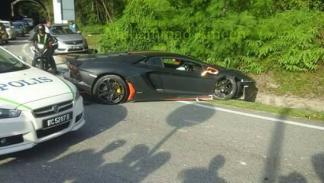 Accidente Lamborghini Aventador Malasia