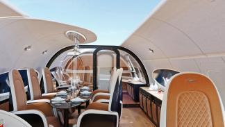 El techo panorámico de Pagani para un jet de Airbus