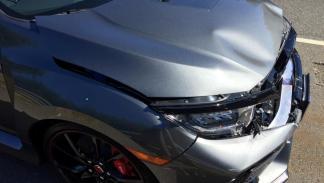Accidente Honda Civic Type R 2017