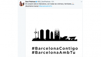 Reacciones pilotos motos tras atentado Barcelona