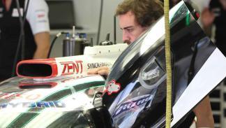 Fernando Alonso prueba el Toyota de Le Mans