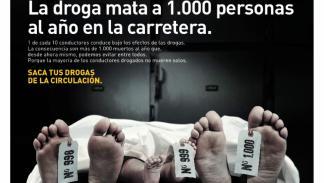 Campaña de la DGT para alertar de la cantidad de gente que muere en carretera con presencia de drogas en su cuerpo
