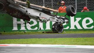 Accidente Marcus Ericsson en Monza