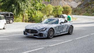 Mercedes AMG GT R fotos espía fuera de Nurburgring