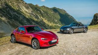nuevo mx5 transfagarasan rumania test descapotable RF Roadster Soft Top